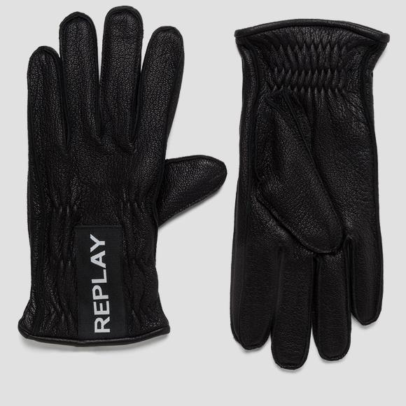 REPLAY leather gloves - Replay AM6053_000_A3169B_098_1