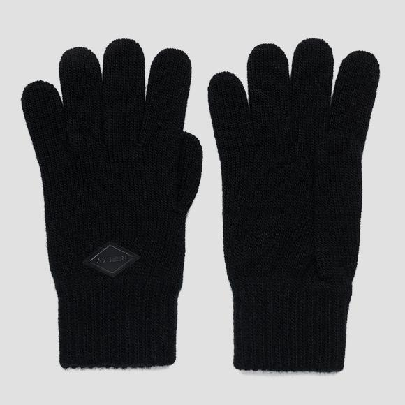 Solid-coloured knitted gloves - Replay AM6054_001_A7003_098_1