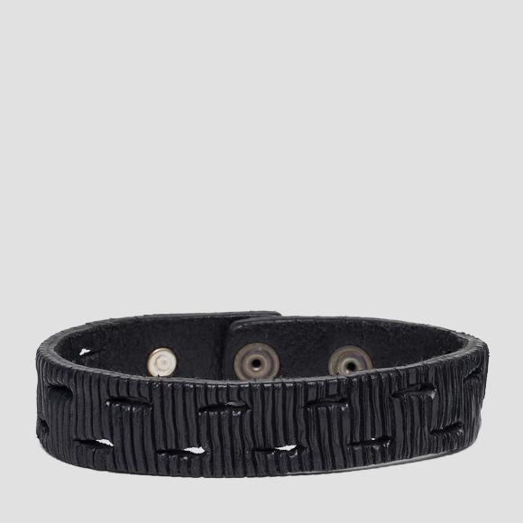 Velvet leather bracelet - Replay AM7045_000_A3114_098_1