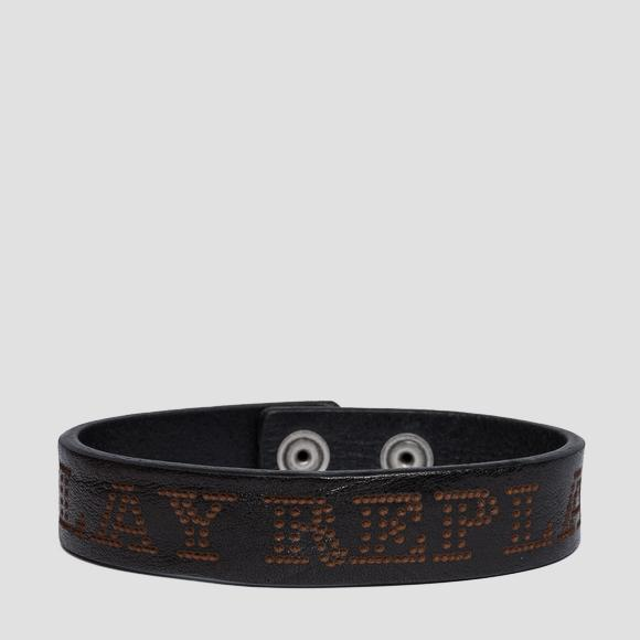 Leather bracelet with Replay writing - Replay AM7051_000_A3007_098_1