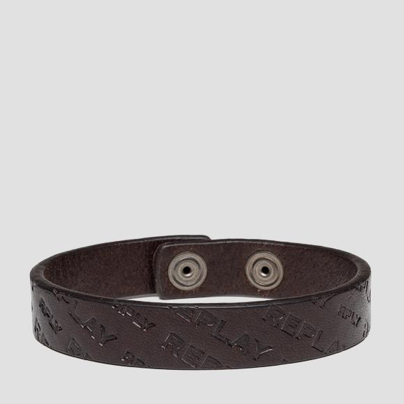 REPLAY leather bracelet - Replay AM7057_000_A3007_127_1