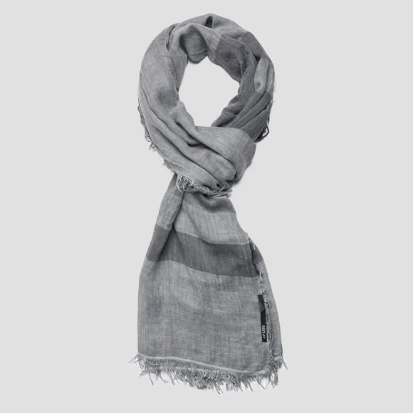 Striped scarf with fringed edges - Replay AM9203_000_A0224B_025_1