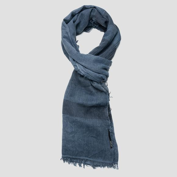 Striped scarf with fringed edges - Replay AM9203_000_A0224B_520_1