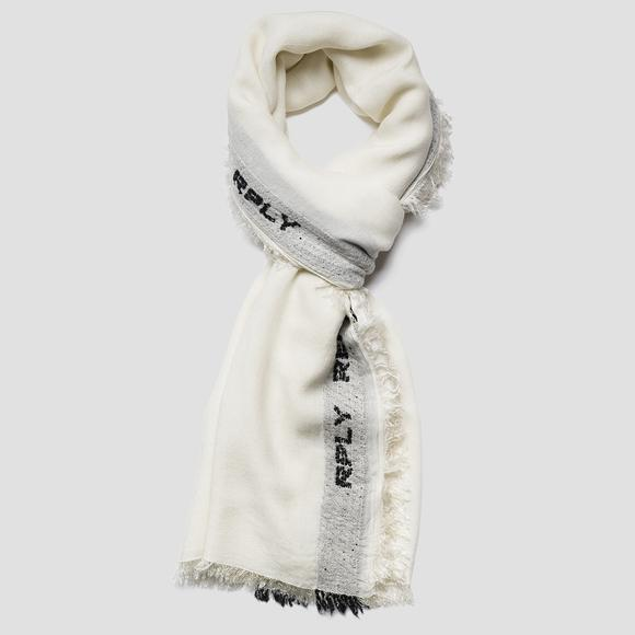 RPLY wool and viscose scarf - Replay AM9222_001_A0317B_020_1