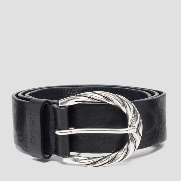 Belt with buckle with rounded edges - Replay AW2507_000_A3007_098_1
