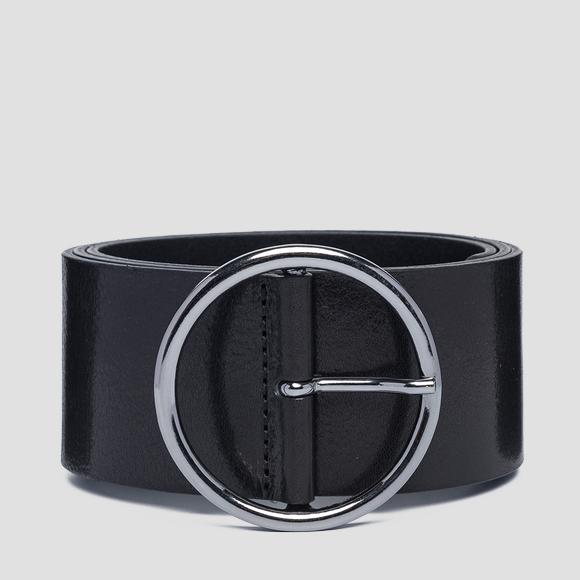 Wide pull-up leather belt - Replay AW2527_000_A3007_098_1