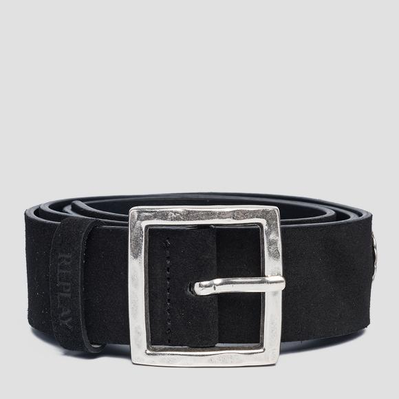 Suede leather belt - Replay AW2533_000_A3054C_098_1