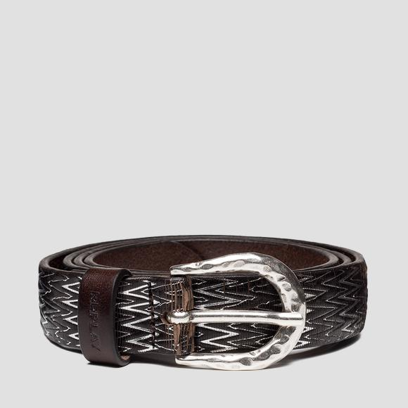 REPLAY leather belt AW2540_000_A3185_128_1