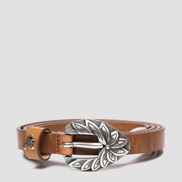 REPLAY thin leather belt - Replay AW2546_000_A3007_045_1