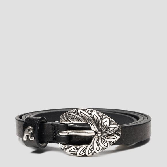 REPLAY thin leather belt - Replay AW2546_000_A3007_098_1
