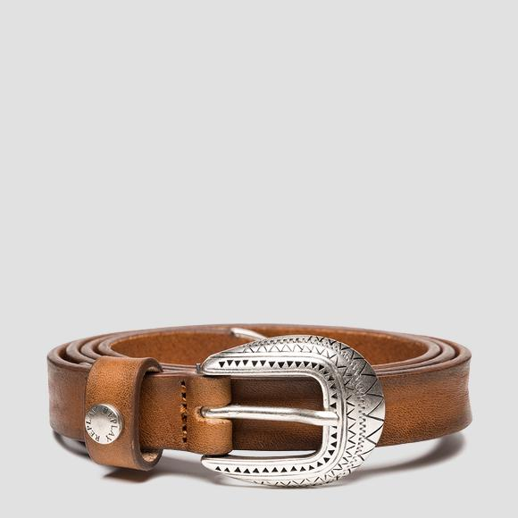 Ethnic belt with vintage effect - Replay AW2547_000_A3077_045_1