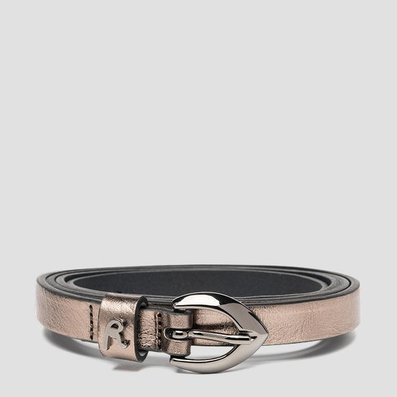 Thin belt in laminated leather - Replay AW2553_000_A3120C_096_1