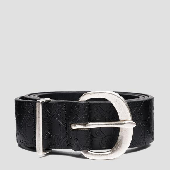 Leather belt with all-over REPLAY pattern - Replay AW2560_000_A3001I_098_1