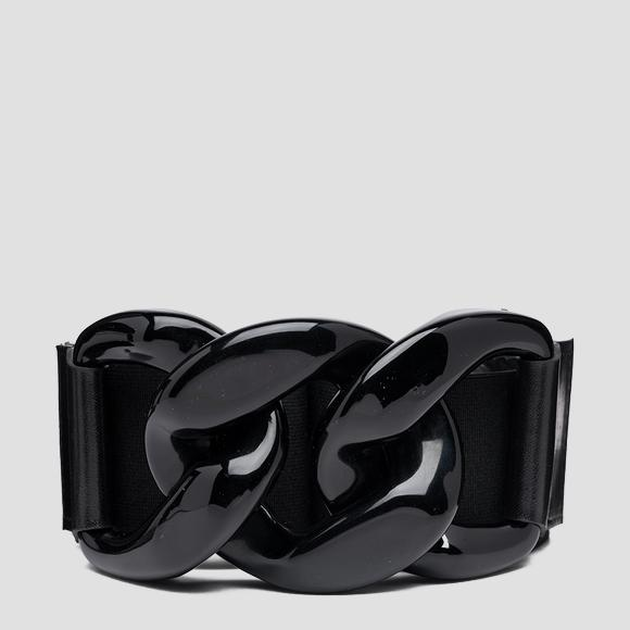 Stretch belt with shiny buckle - Replay AW2563_000_A0102_098_1