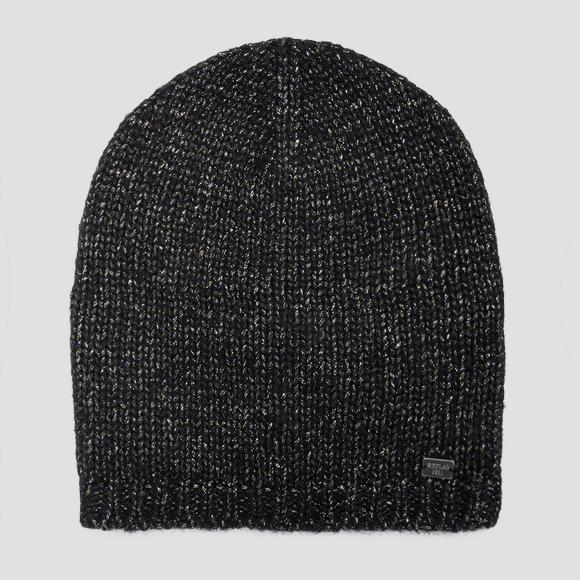 Beanie in metallic knit - Replay AW4219_000_A7091_098_1