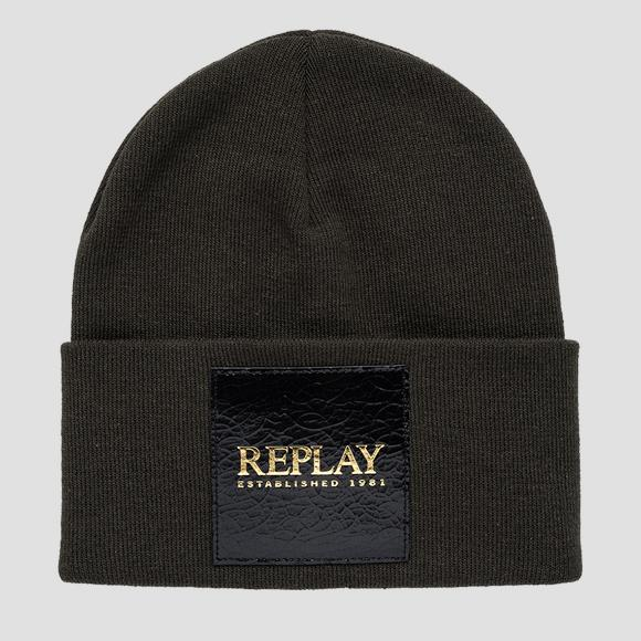 REPLAY ESTABLISHED 1981 cotton beanie - Replay AW4252_000_A7059_415_1