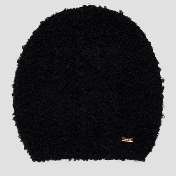 Bouclé beanie in wool and mohair - Replay AW4264_000_A7052_098_1