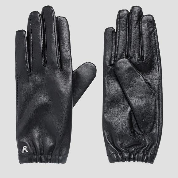 Leather gloves with stud - Replay AW6067_000_A3169_098_1