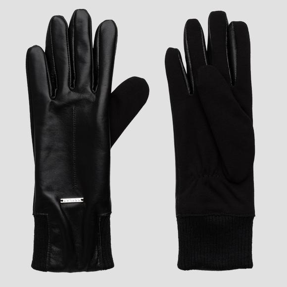 Smooth leather gloves REPLAY - Replay AW6068_000_A3142A_098_1