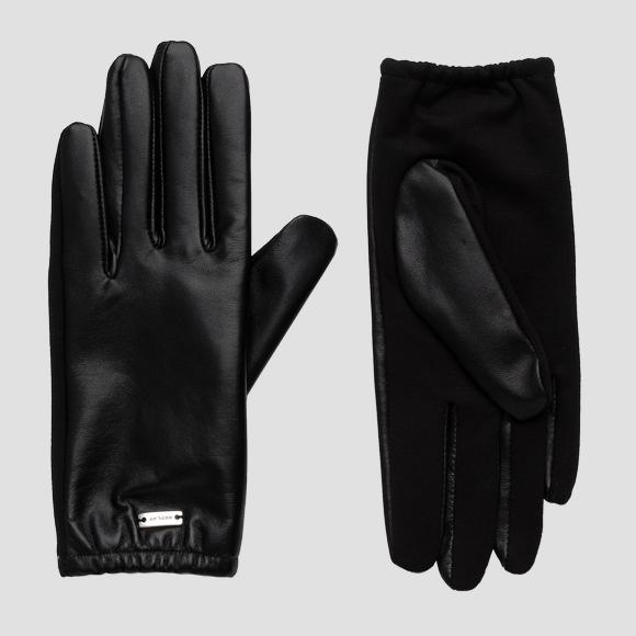 Gloves in solid-coloured smooth leather - Replay AW6072_000_A3190_098_1