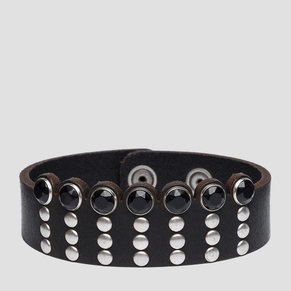 Leather bracelet with studs - Replay AW7157_000_A3007_098_1
