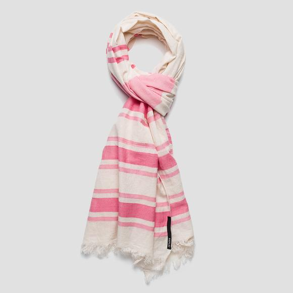 Striped cotton scarf - Replay AW9261_000_A0067A_1347_1