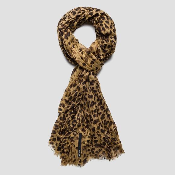 Animal-print scarf - Replay AW9262_000_A0199C_1350_1