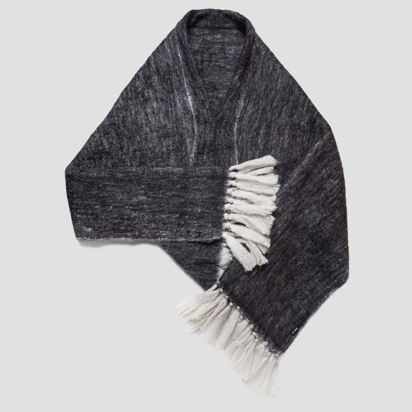 Wool scarf with fringes - Replay AW9269_000_A0310_014_1