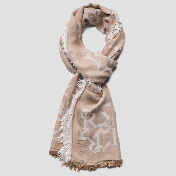 REPLAY scarf with jacquard pattern - Replay AW9277_000_A0383_1429_1