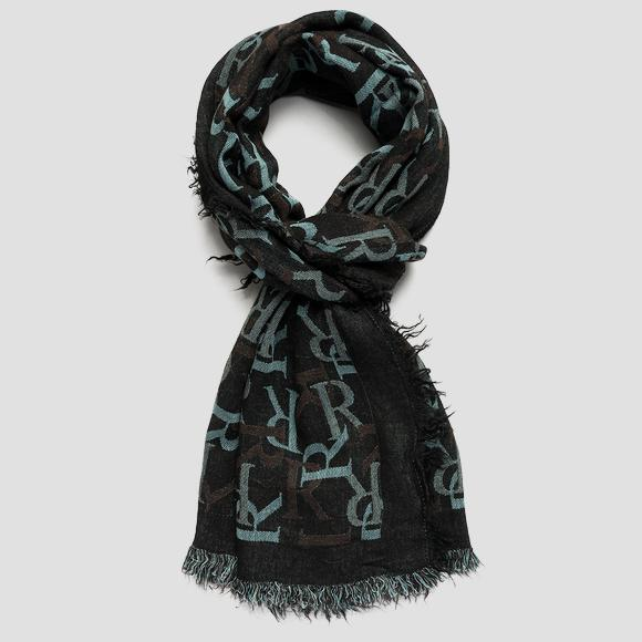REPLAY scarf with jacquard pattern - Replay AW9277_001_A0383B_1456_1