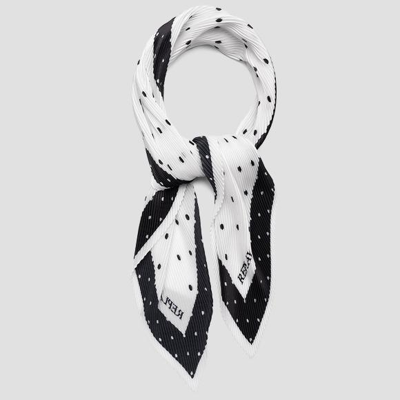 Dotted scarf in pleated satin - Replay AW9282_000_A0187F_1214_1