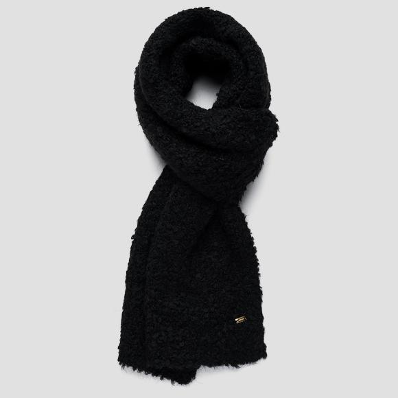 Bouclé scarf in wool and mohair - Replay AW9284_000_A7052_098_1