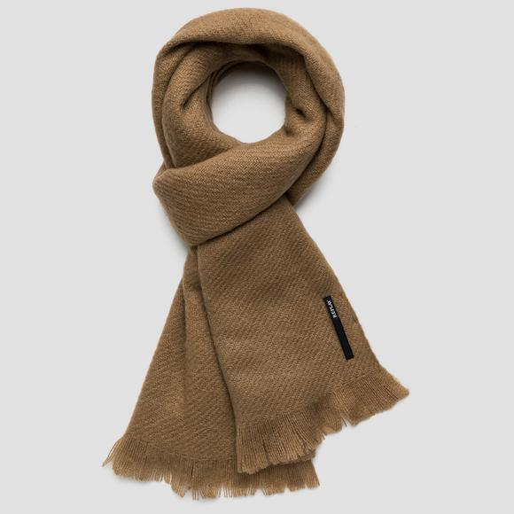 Mélange fringed scarf - Replay AW9285_000_A0165D_049_1