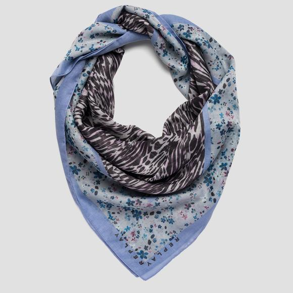 Scarf with double print - Replay AW9287_000_A0187A_1463_1