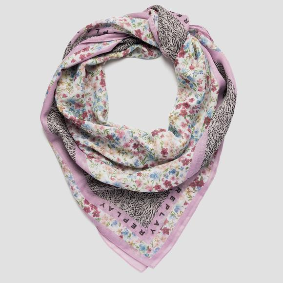 Scarf with double print REPLAY AW9289_000_A0187I_1464_1
