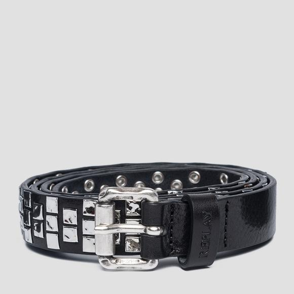 Leather belt with studs - Replay AX2251_000_A3007_098_1
