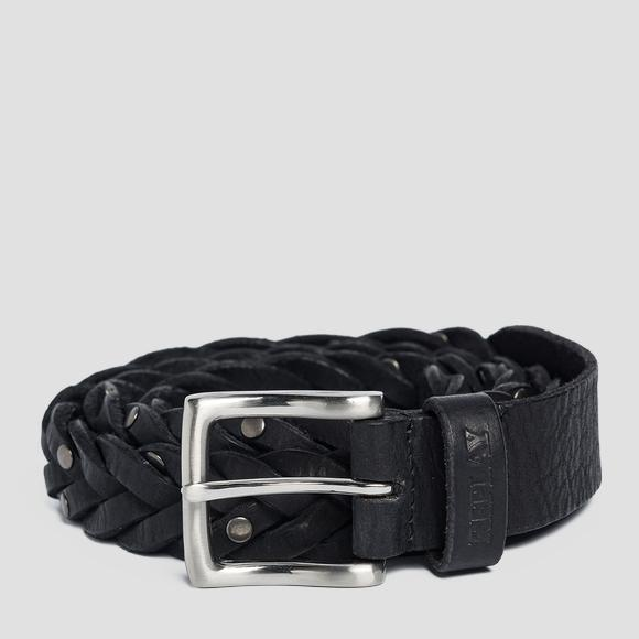 Weaved leather belt - Replay AX2253_000_A3000_098_1