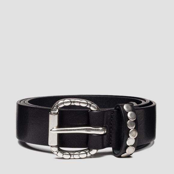 Leather belt with studs - Replay AX2259_000_A3007_098_1