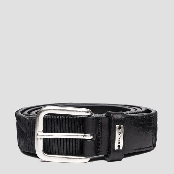 Belt in patterned striped leather - Replay AX2263_000_A3114_098_1