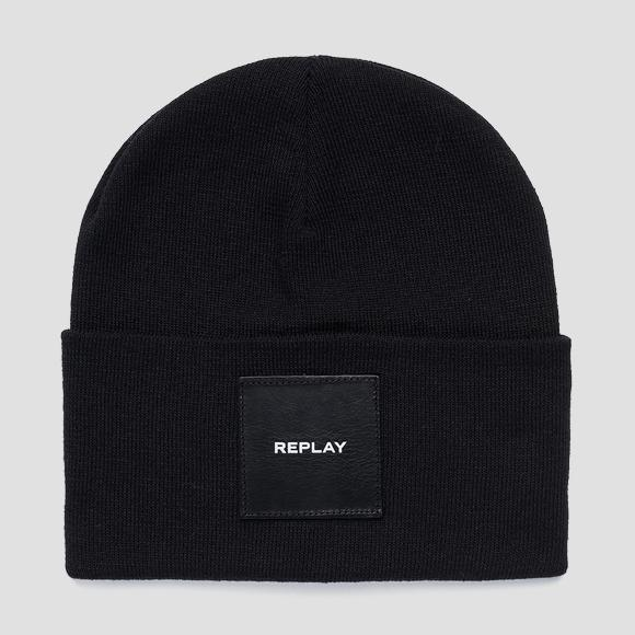 Solid-coloured REPLAY beanie - Replay AX4167_001_A7059_098_1