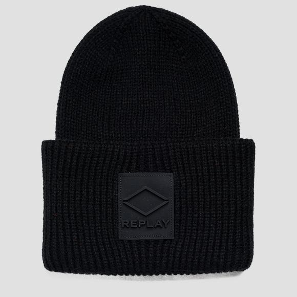 Solid-coloured knitted beanie - Replay AX4300_000_A7003_098_1
