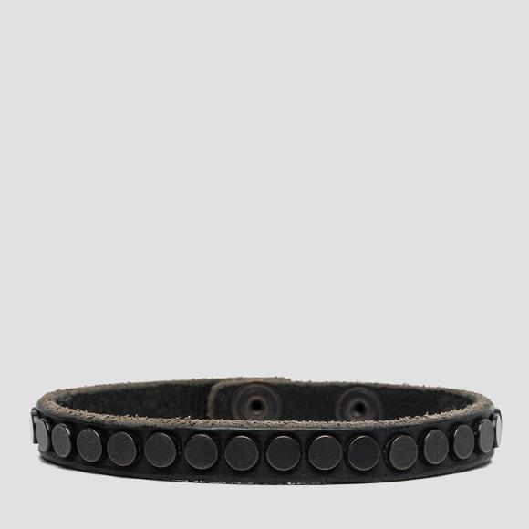 Unisex studded leather bracelet - Replay AX7013_001_A3007_850_1