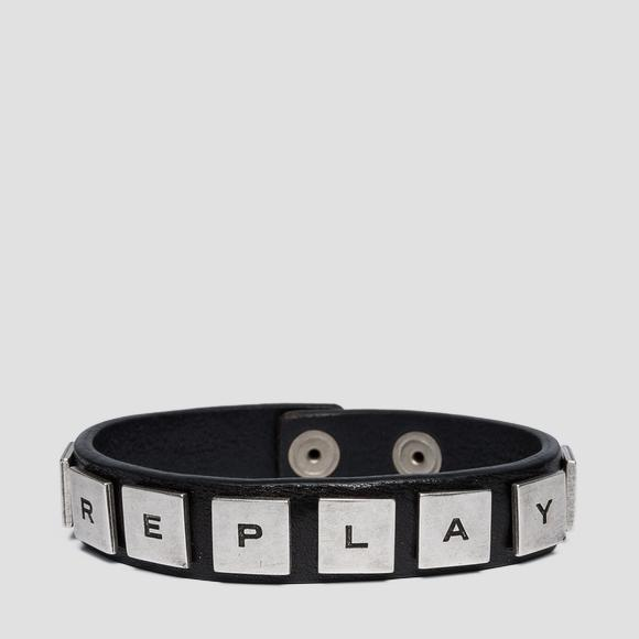 Leather bracelet with studs - Replay AX7098_000_A3007_098_1