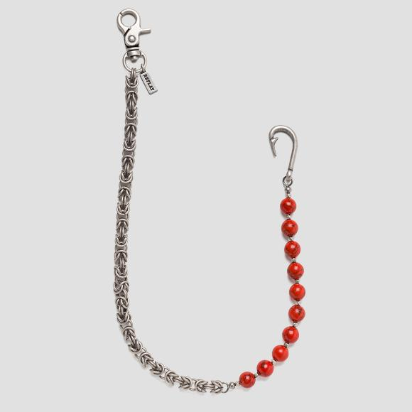 Metal jeans chain with pearls - Replay AX7111_000_A6006_243_1