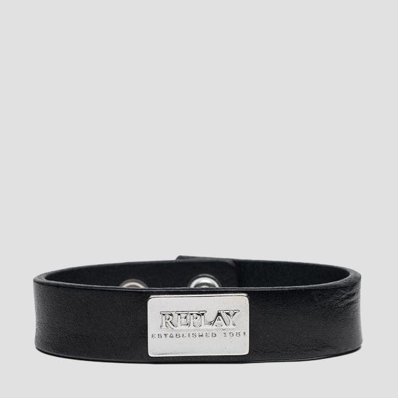 REPLAY ESTABLISHED 1981 leather bracelet - Replay AX7166_000_A3007_098_1