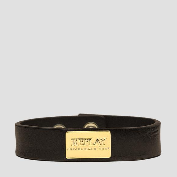 REPLAY ESTABLISHED 1981 leather bracelet - Replay AX7166_000_A3007_127_1