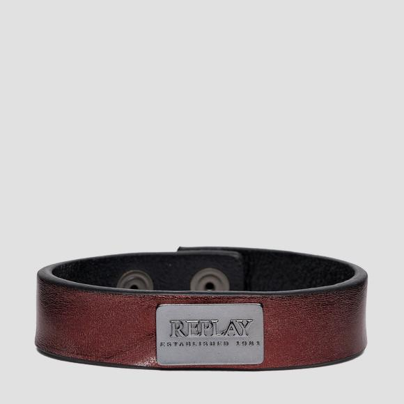 REPLAY ESTABLISHED 1981 laminated leather bracelet - Replay AX7166_001_A3021C_276_1