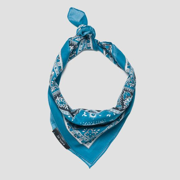 Printed cotton scarf - Replay AX9229_000_A0190H_1052_1
