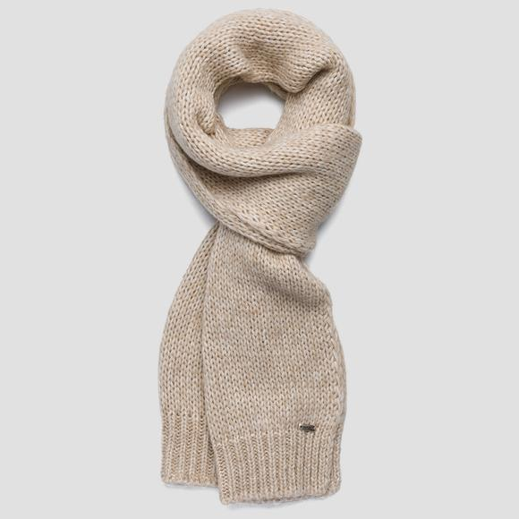 Ribbed melange scarf - Replay AX9230_000_A7094_041_1