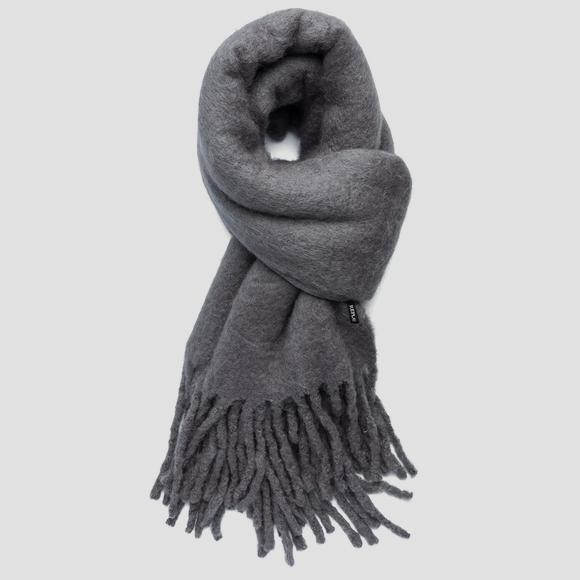 Solid-coloured wool scarf - Replay AX9231_000_A0310_016_1